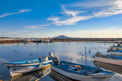 Port of Loreto. Boats docked at the port of Loreto in Baja California Sur, Mexico Stock Photos