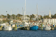 Fishing boats in harbor at Newport, Rhode Island Royalty Free Stock Photo