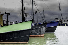 Fishing trawlers in the harbor Royalty Free Stock Photo