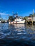 shrimp boats in the bayou royalty free stock photo