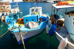 Fishing boats in harbor of Symi Island. Greece, Europe Stock Images