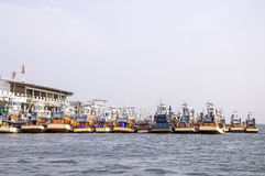 Fishing boats at the harbor Royalty Free Stock Images