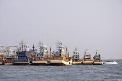 Fishing boats at the harbor Royalty Free Stock Photos