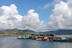 Fishing boats in the harbor of Valentia Island. On the Ring of Kerry, County Kerry, Ireland Stock Images
