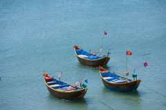 Fishing boats in the harbor Vietnam Mui Ne Royalty Free Stock Images