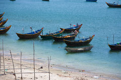 Fishing boats in the harbor Vietnam Mui Ne Stock Photo