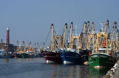 Fishing boats in the harbour royalty free stock photography
