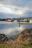 Fishing boats in harbour Stock Photography