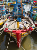 Fishing boats in a harbour Stock Photos