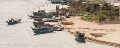 Fishing boats in a harbour Stock Images