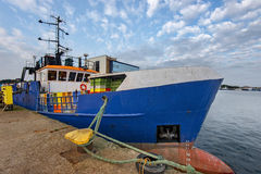 Fishing Boats in a Harbour, Baltic Sea Royalty Free Stock Images