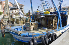 Fishing boats at harbour. Fishing boats at the harbour of Grado, Italy Royalty Free Stock Photography