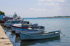 Fishing boats in harbour Royalty Free Stock Photos