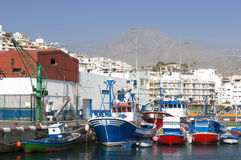 Fishing Boats Harbour, Santa Cruz, Tenerife. Royalty Free Stock Photography