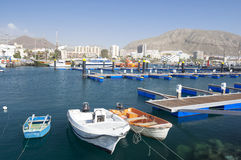 Fishing Boats Harbour, Santa Cruz, Tenerife. Stock Image