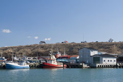 Fishing Boats in the Harbour Stock Photo