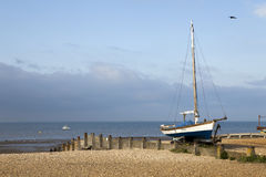 Fishing boats in  harbour at Whitstable, Kent. Fishing boats in the harbour at Whitstable, Kent Royalty Free Stock Photography