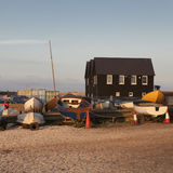 Fishing boats in the harbour at Whitstable, Kent Stock Image
