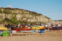 Fishing boats, Hastings Stock Photos