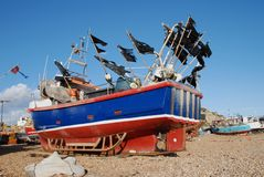 Fishing boats, Hastings Royalty Free Stock Photo