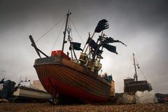 Fishing boats, Hastings, UK. Royalty Free Stock Images