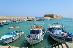 Fishing boats at Heraklion harbor Royalty Free Stock Image