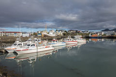 Fishing boats in Hofn harbour, Iceland Royalty Free Stock Images
