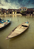 Fishing boats in Hoi An Royalty Free Stock Photos