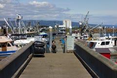 Fishing boats at homer, alaska Royalty Free Stock Image