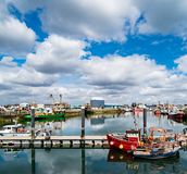 Fishing Boats in Howth Harbor stock photography
