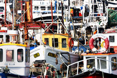 Fishing boats in Howth harbor, Howth ( Dublin), Ireland Stock Photos