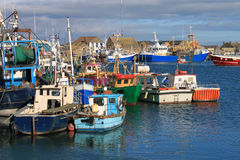 Fishing Boats Howth Harbour. Fishing boats moored at Howth harbour, County Dublin, Ireland Royalty Free Stock Photography