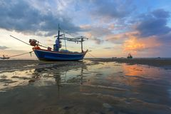 Fishing boats in huahin Royalty Free Stock Image