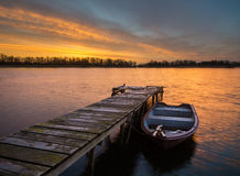 Free Fishing Boats In The Light Of The Setting Sun Royalty Free Stock Images - 51176289