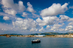 Fishing boats  in the Ionian sea Stock Images