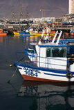 Fishing Boats in Iquique, Chile Stock Photo