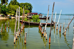 Fishing boats at the island's people Stock Image