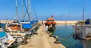 Fishing boats in Jaffa. Stock Photo