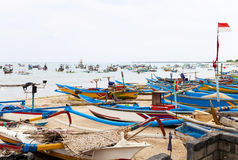 Fishing Boats, Jimbaran Beach, Bali, Indonesia Royalty Free Stock Image