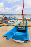Fishing Boats, Jimbaran Beach, Bali, Indonesia Stock Images