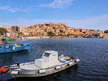 Fishing Boats, Kavala Bay stock photos
