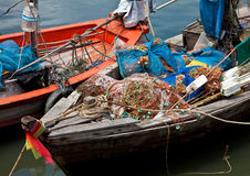 Fishing boats at Khao Takiab Stock Photos