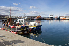 Fishing Boats in Kirkwall Harbour. Boats docked in Kirkwall, Orkney's capital Royalty Free Stock Images