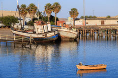 Fishing boats at Lüderitz harbour Stock Images