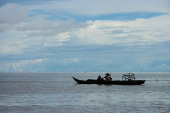 Fishing boats in the lake Royalty Free Stock Photography