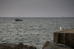 Fishing Boats on Lake Michigan Stock Photo