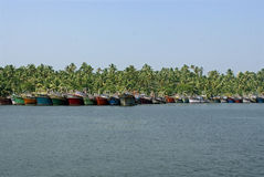 Fishing boats landing Stock Photography