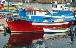 Fishing Boats,Lanzarote Stock Photo