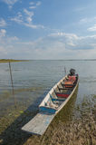 Fishing boats of the locals,Fishing boats moored at the river's Stock Photography