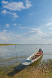 Fishing boats of the locals,Fishing boats moored at the river's Royalty Free Stock Images